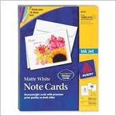 Avery Inkjet Matte Coated Note Card
