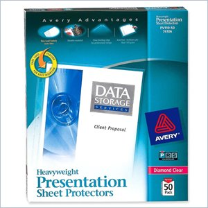 Avery Diamond Clear Top Loading Sheet Protector