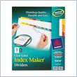 ADD TO YOUR SET: Avery Index Maker Punched Clear Label Tab Divider