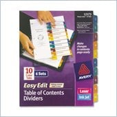 Avery Easy Edit Index Divider
