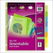 Avery Big Tab Plastic Insertable Divider