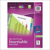 Avery Plastic Pocket Insertable Tab Divider