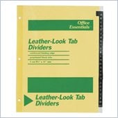 Avery A-Z Leather-Look Tab Dividers