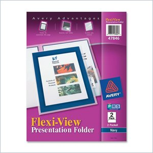 Avery Flexi-View Presentation Two Pocket Folder