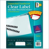 Avery Index Maker Translucent Divider