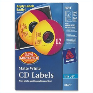 Avery 8691 Matte CD Label