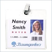 Baumgartens Horizontal Badge Holder with Clip