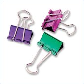 Baumgartens Metallic Colored Binder Clip