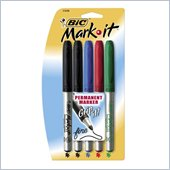 BIC Grip Permanent Marker Set
