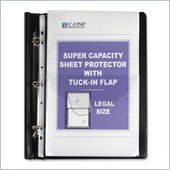 C-line Super Capacity Sheet Protector w/ Tuck-in Flap