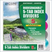 C-line Poly Binder Index Divider with Pockets