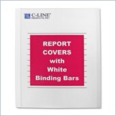 C-line Vinyl Report Cover with White Binding Bar
