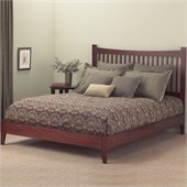 Fashion Bed Group Jakarta Modern Platform Bed in Mahogany Finish