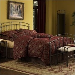Fashion Bed Fenton Metal Bed in Black Walnut