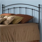 Fashion Bed Group Sanford Metal King Headboard in Matte Black Finish