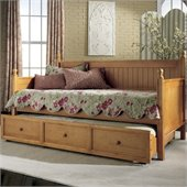 Fashion Bed Group Casey Wood Daybed in Honey Maple Finish with Optional Trundle