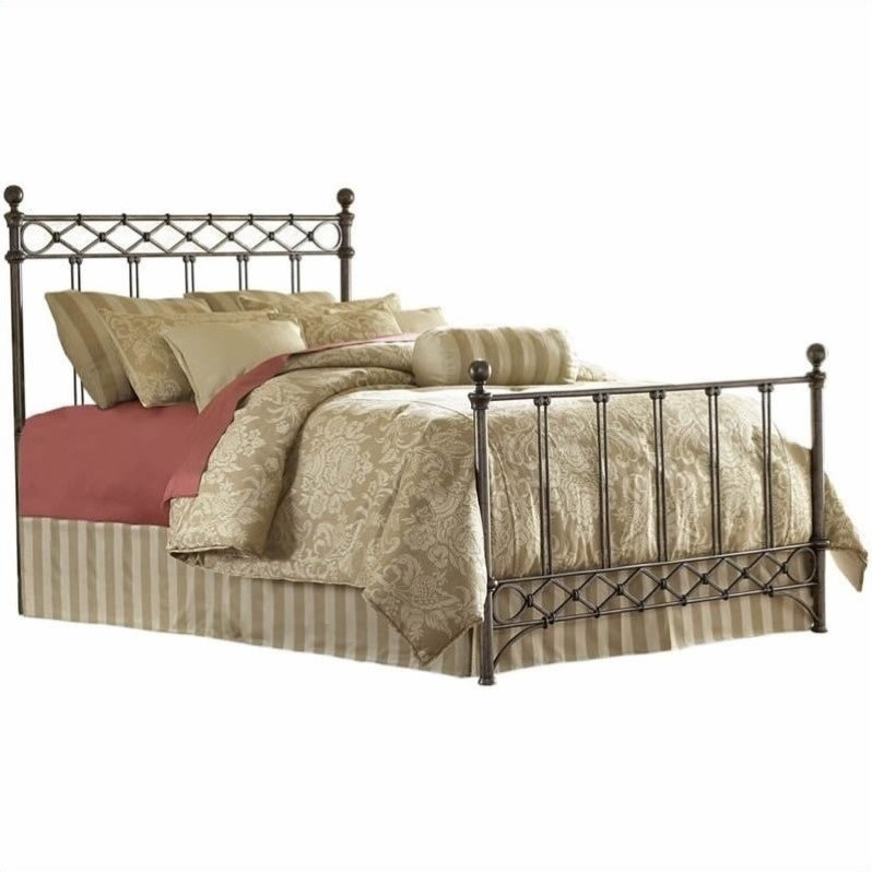 Fashion Bed Argyle Metal Poster Bed in Copper Chrome-Full