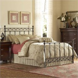 Fashion Bed Argyle Metal Poster Bed in Copper Chrome