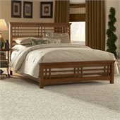 Fashion Bed Group Avery Panel Bed in Oak