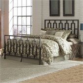 Fashion Bed Group Miami Metal Panel Headboard in Coffee