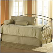 Fashion Bed Group Tuxedo Metal Daybed in Gold Frost Finish with Pop-Up Trundle