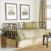 Fashion Bed Group Miami Metal Daybed in Coffee Finish with Pop-Up Trundle