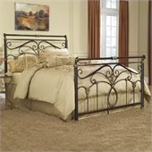 Fashion Bed Group Lucinda Metal Sleigh Bed in Marbled Russet Finish