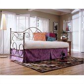 Fashion Bed Caroline Daybed with Link Spring and  Trundle in Flint