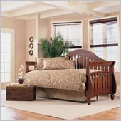 Fashion Bed Fraser Daybed with Link Spring and Trundle in Walnut