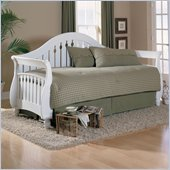 Fashion Bed Fraser Daybed with Trundle and Link Spring in Frost