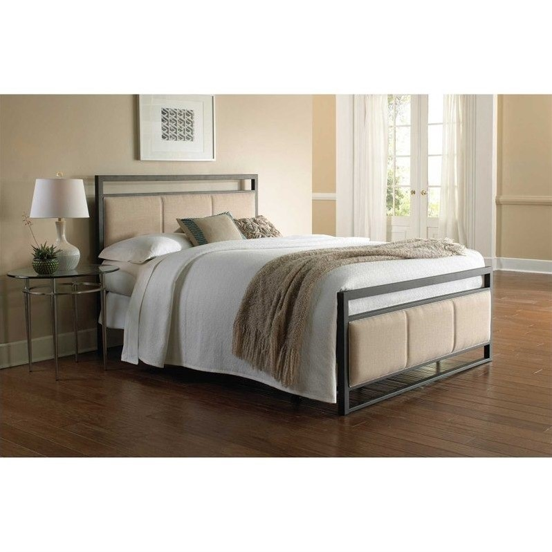 Fashion Bed Danville Metal Upholstered Bed in Coffee-Queen