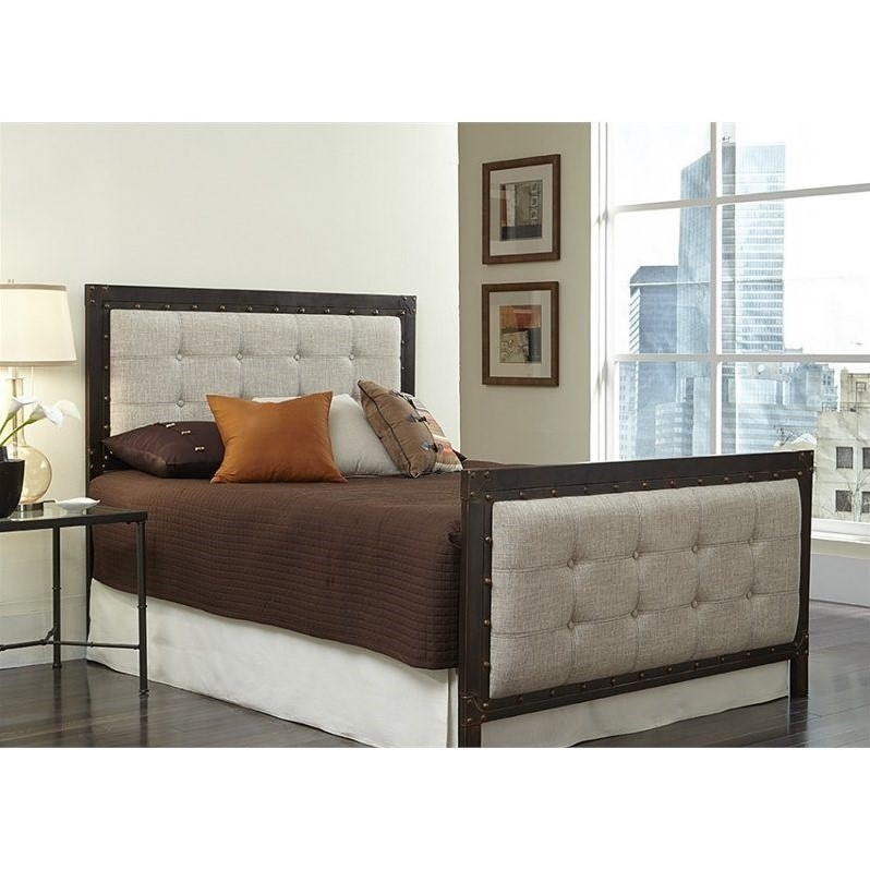 Fashion Bed Gotham Bed in Latte and Brushed Copper-Queen