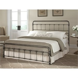Fashion Bed Snap Fremont King Metal Bed in Weathered Nickel
