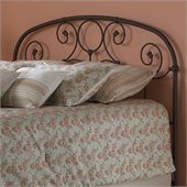 Fashion Bed Group Grafton Metal Headboard in Rusty Gold Finish