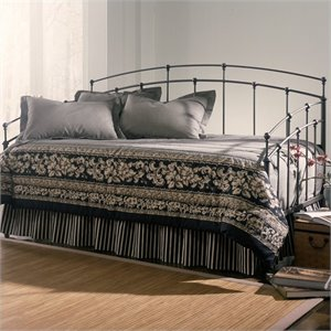 Fashion Bed Fenton Metal Daybed in Black Walnut Finish