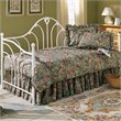 ADD TO YOUR SET: Fashion Bed Group Emma Metal Daybed in Antique White Finish 