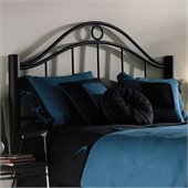 Fashion Bed Group Linden Metal Headboard in Ebony Metal Finish