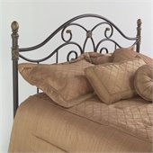 Fashion Bed Group Dynasty Metal Headboard in Autumn Brown Finish