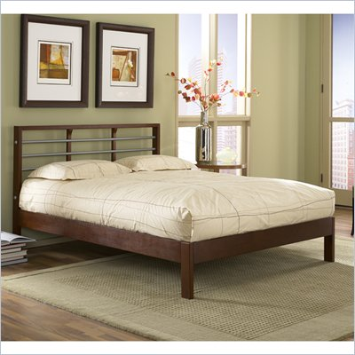Fashion Bed Group Delmar Platform Bed in Merlot and Silver