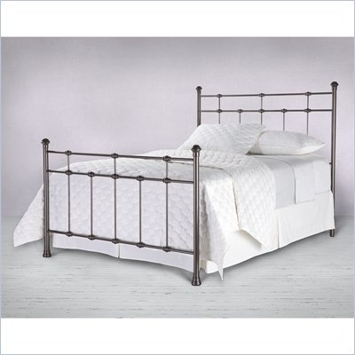 Fashion Bed Group Dexter Metal Poster Bed in Hammered Brown Finish