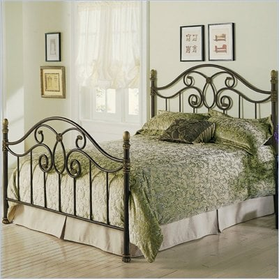 Fashion Bed Group Dynasty Metal Poster Bed in Autumn Brown Finish