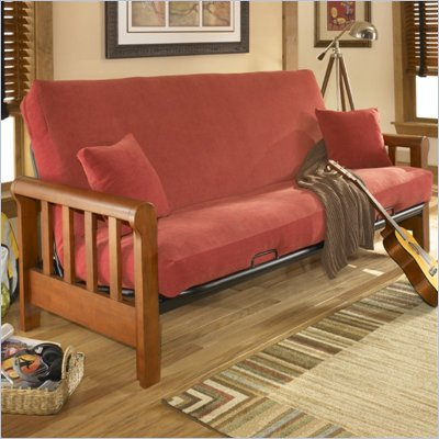 Fashion Bed Group Huntley Full Size Futon Frame in Cherry