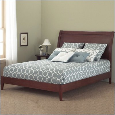 Fashion Bed Group Java Modern Platform Bed in Mahogany Finish