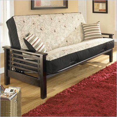 Fashion Bed Group Morgan Full Size Futon Frame in Espresso Finish