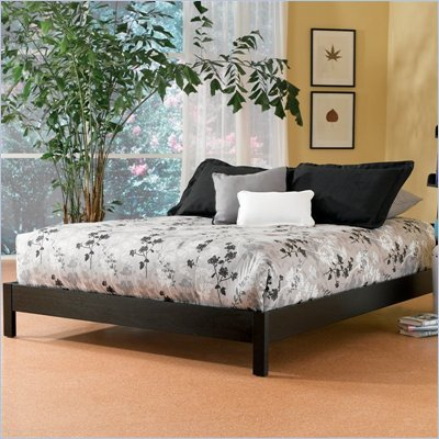 Fashion Bed Group Murray Modern Black Wood Platform Bed 2 Piece Bedroom Set