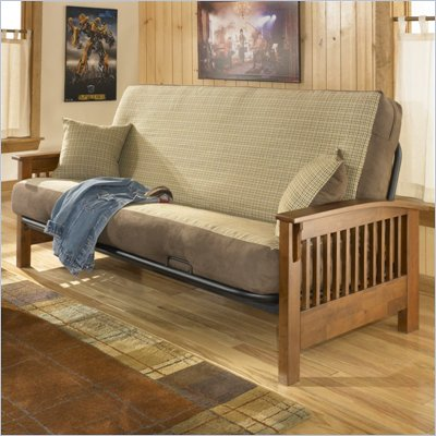Fashion Bed Group Wilshire Full Size Futon Frame in Mahogany