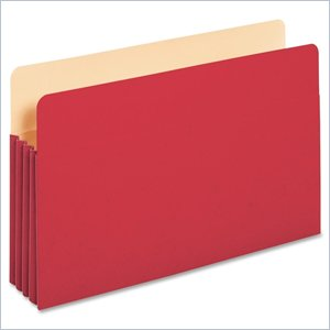 Globe-Weis TUFF Pocket Colored Top Tab File Pocket