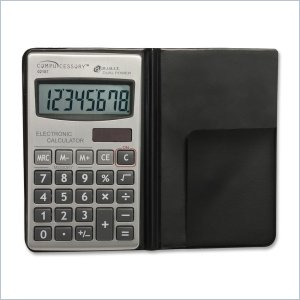 Compucessory Dual Power Pocket Calculator w/ Wallet