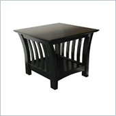 Elite Florenzia Black Wood End Table
