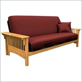 Elite Products Santa Barbara Full Size Futon Frame in Golden Oak